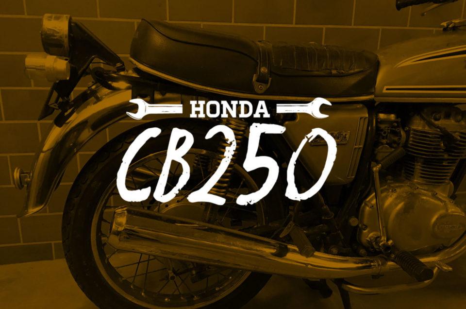 Honda CB250 - Rahmenarbeiten