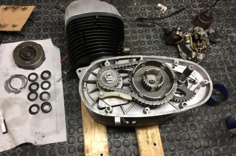 Maico M250B - Motor zusammenbau